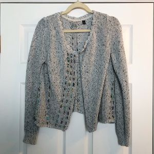 Anthropologie Knitted and Knotted Ribbon Cardigan
